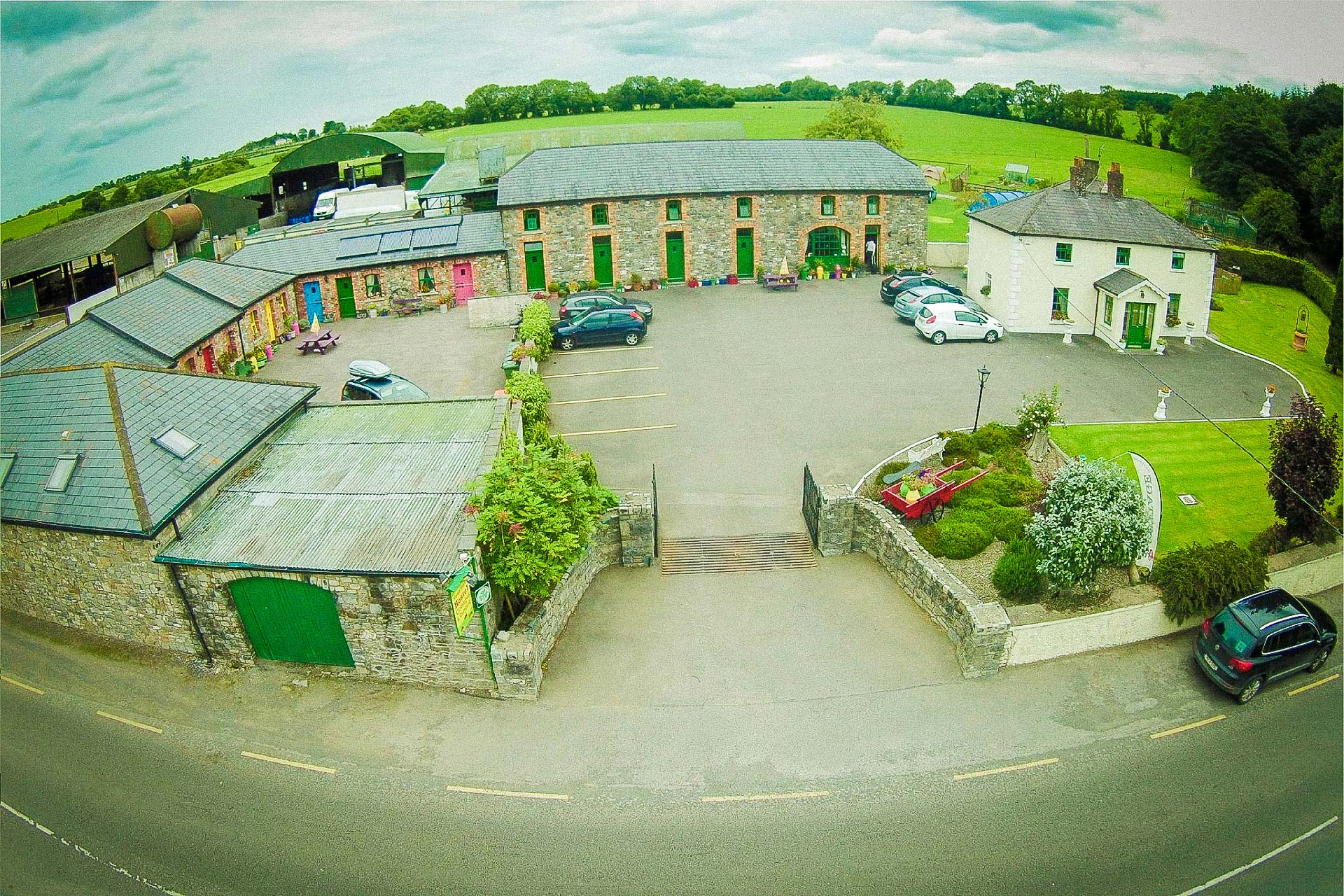 Slane Farm Hostel - Accommodation Boyne Valley Meath Aerial view